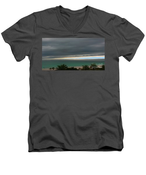 A Sliver Of Hope Men's V-Neck T-Shirt by Mariarosa Rockefeller