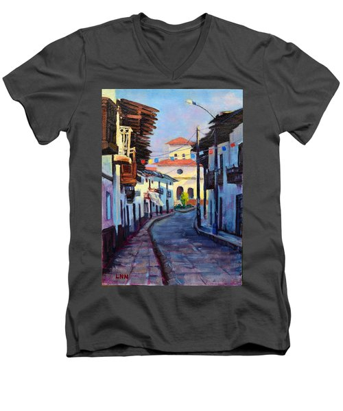 A Small Town Men's V-Neck T-Shirt