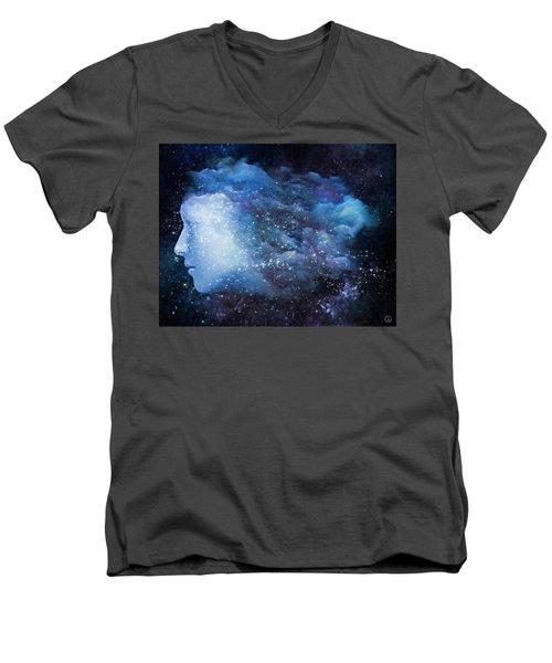 A Soul In The Sky Men's V-Neck T-Shirt by Gun Legler