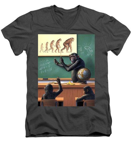 A Specious Origin Men's V-Neck T-Shirt by Jerry LoFaro