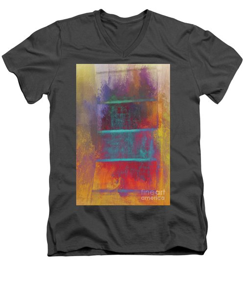 A Splash Of Color Men's V-Neck T-Shirt