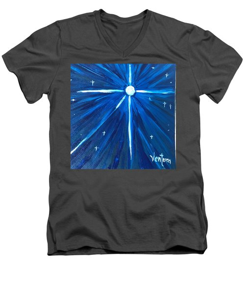 A Star Men's V-Neck T-Shirt