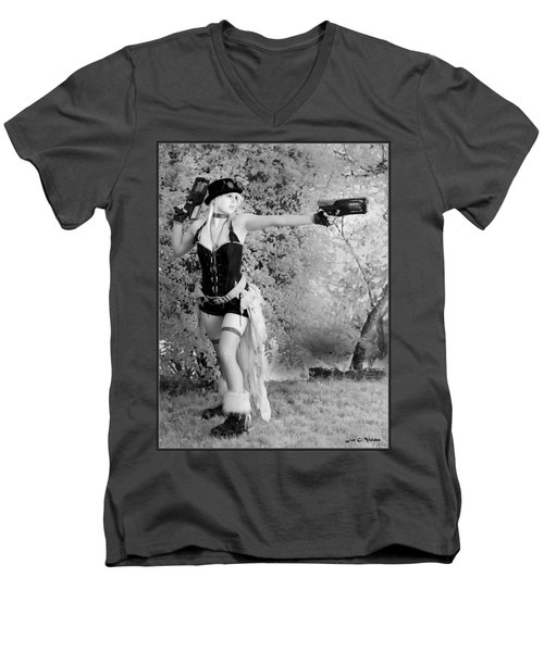 A Steam Punk Heroine Men's V-Neck T-Shirt