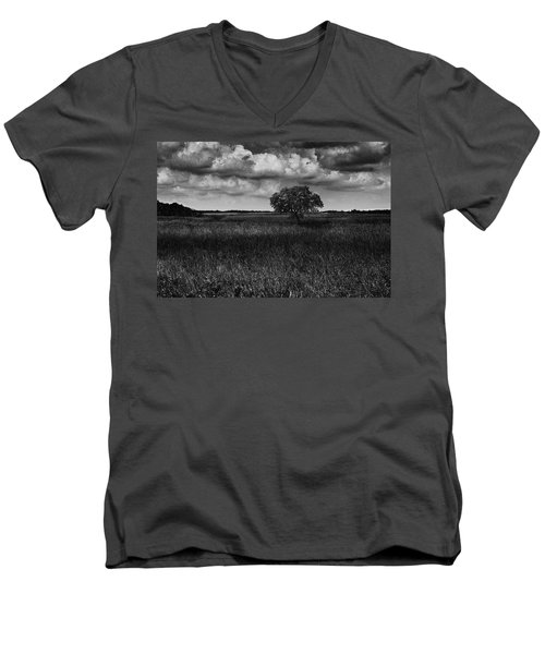 A Storm Is Coming To Wyoming Grasslands Men's V-Neck T-Shirt by Jason Moynihan