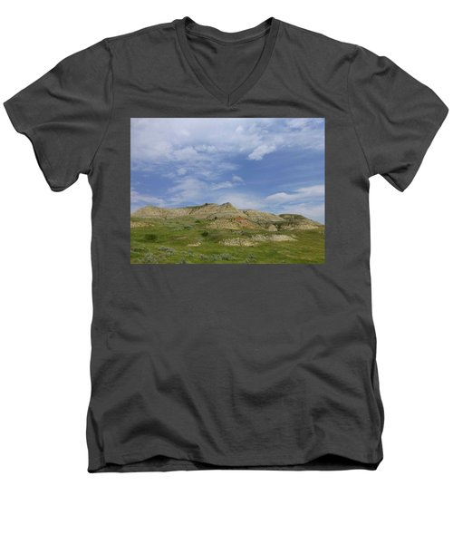 A Summer Day In Dakota Men's V-Neck T-Shirt
