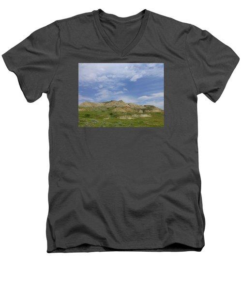 A Summer Day In Dakota Men's V-Neck T-Shirt