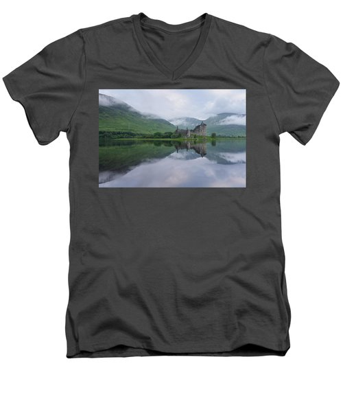 A Summers Morning At Kilchurn Men's V-Neck T-Shirt