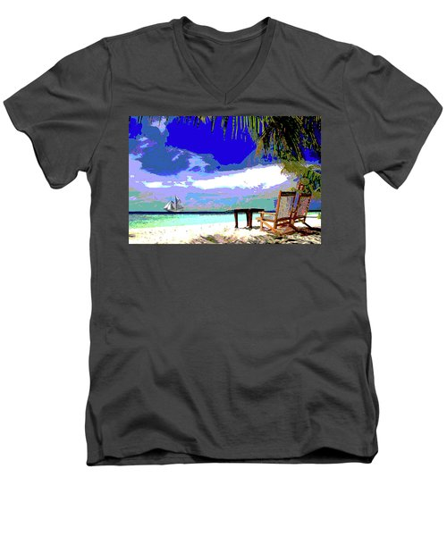 A Sunny Day At The Beach Men's V-Neck T-Shirt