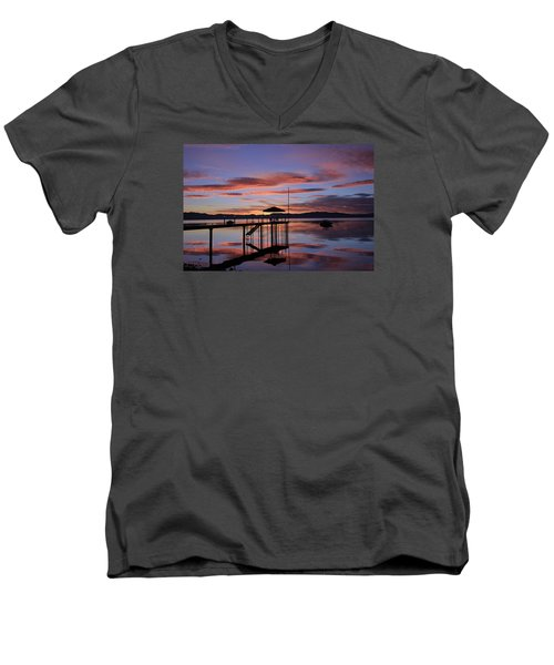 Men's V-Neck T-Shirt featuring the photograph A Sunrise To Wake The Dead  by Sean Sarsfield