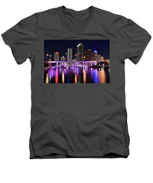 A Tampa Night Men's V-Neck T-Shirt