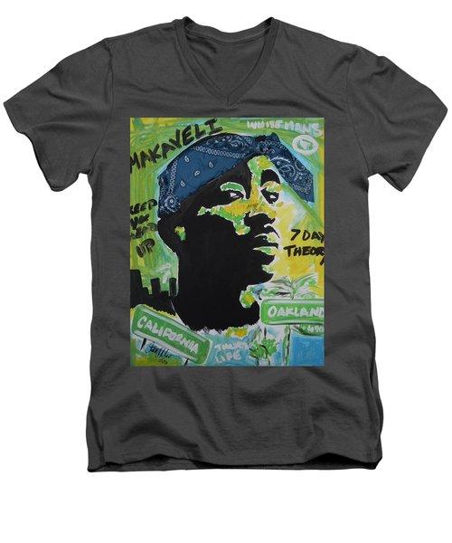 A Thugs Mind Men's V-Neck T-Shirt