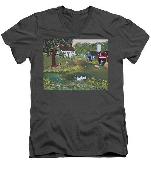 A Time To Play Men's V-Neck T-Shirt by Virginia Coyle
