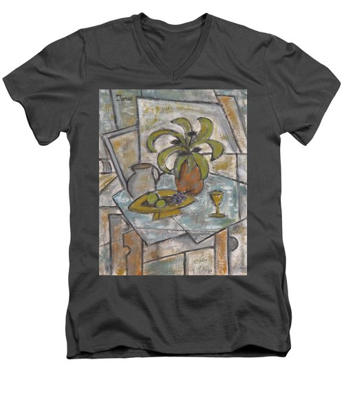 A Toast To Tranquility Men's V-Neck T-Shirt by Trish Toro