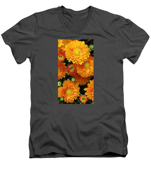 Men's V-Neck T-Shirt featuring the photograph A Touch Of Autumn by Bruce Bley