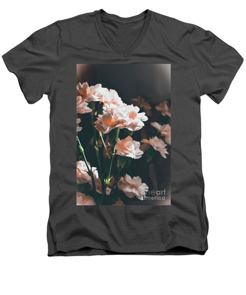 A Touch Of Georgia Sunlight - Macro Men's V-Neck T-Shirt