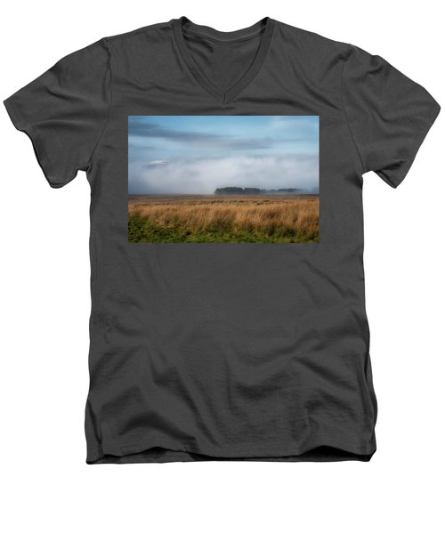 Men's V-Neck T-Shirt featuring the photograph A Touch Of Snow by Jeremy Lavender Photography