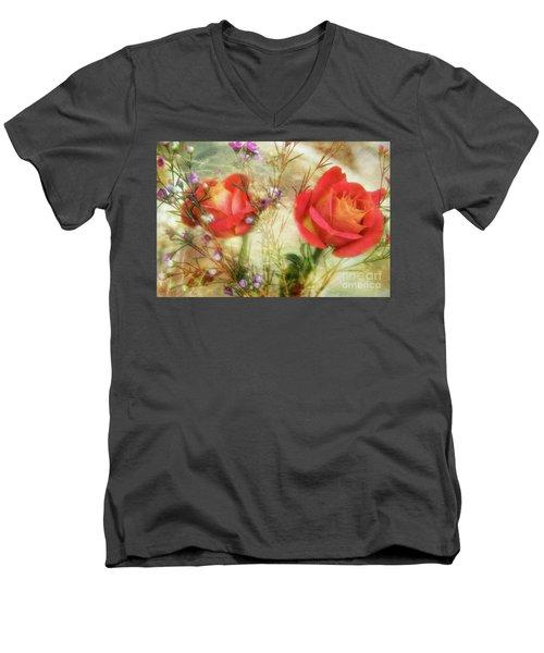 A Treasure Men's V-Neck T-Shirt by Joan Bertucci