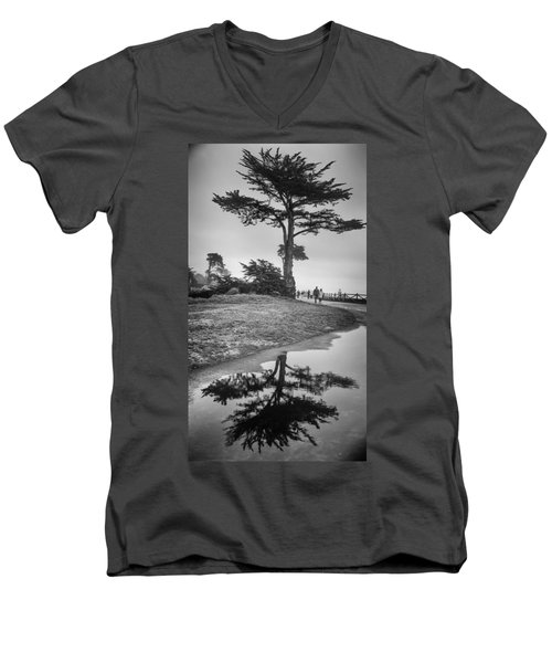 A Tree Stands Tall Men's V-Neck T-Shirt