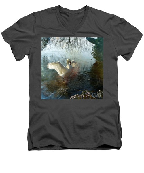 A Very Fine Swan Indeed Men's V-Neck T-Shirt