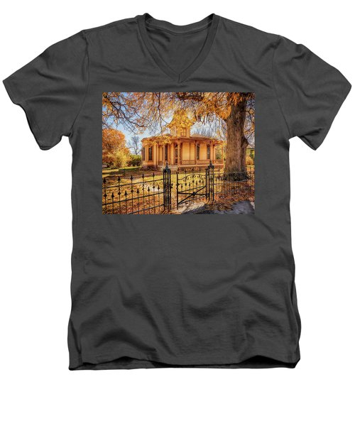 A Victorian Autumn Men's V-Neck T-Shirt