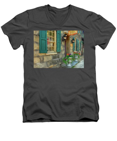 A Victorian Tea Room Men's V-Neck T-Shirt