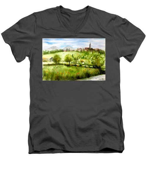 A View From Tuscany Men's V-Neck T-Shirt