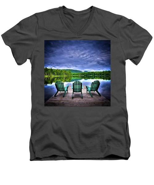 Men's V-Neck T-Shirt featuring the photograph A View Of Serenity by David Patterson