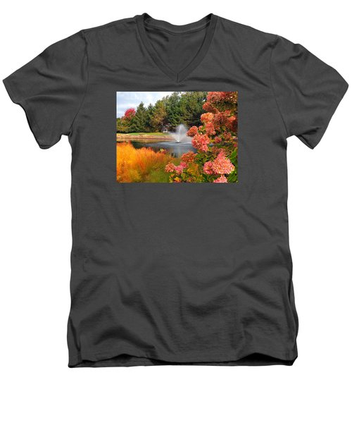 A Vision Of Autumn Men's V-Neck T-Shirt by Teresa Schomig