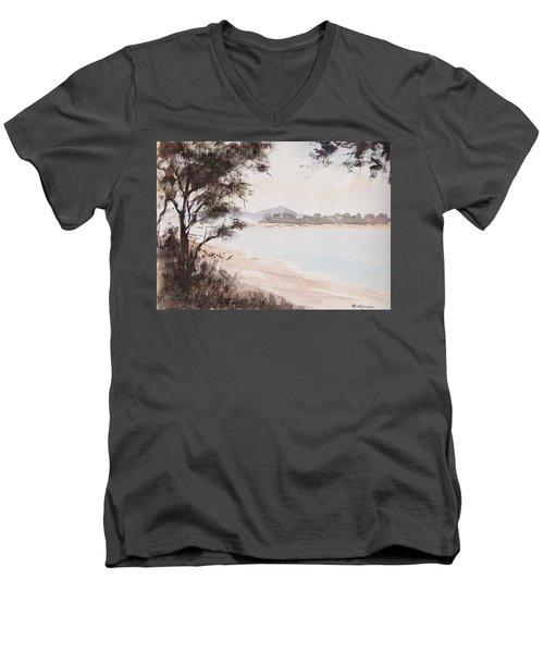 A Walk Along The Riverside Men's V-Neck T-Shirt
