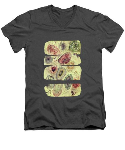 A Walk At The Beach Men's V-Neck T-Shirt by AugenWerk Susann Serfezi
