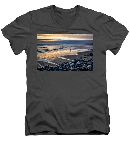 A Walk In The Evening Men's V-Neck T-Shirt