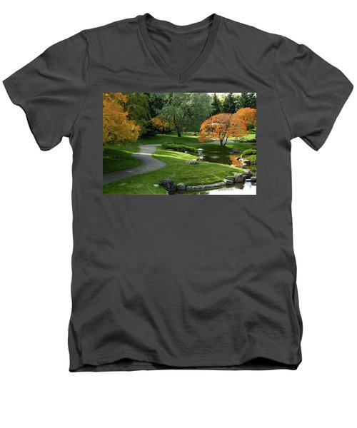 A Walk In The Garden Men's V-Neck T-Shirt