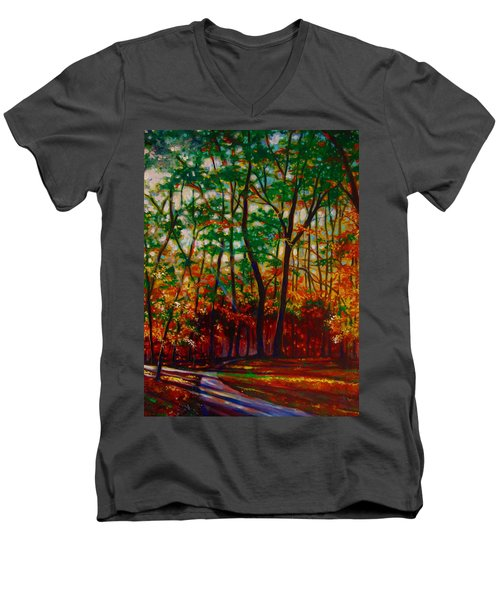 A Walk In The Park Men's V-Neck T-Shirt by Emery Franklin