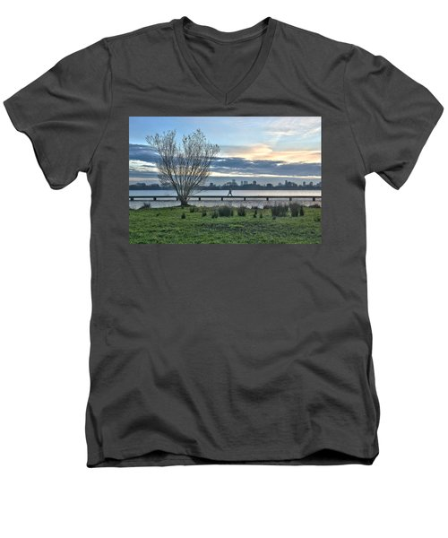 A Walk Through The Lake Men's V-Neck T-Shirt
