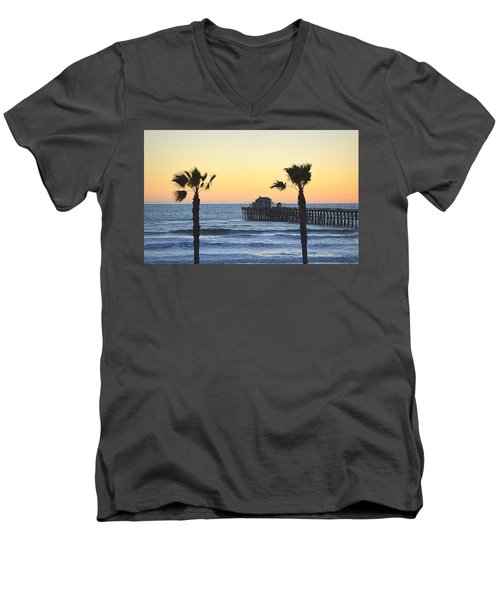 Men's V-Neck T-Shirt featuring the photograph A Warmer Place To Be by AJ Schibig