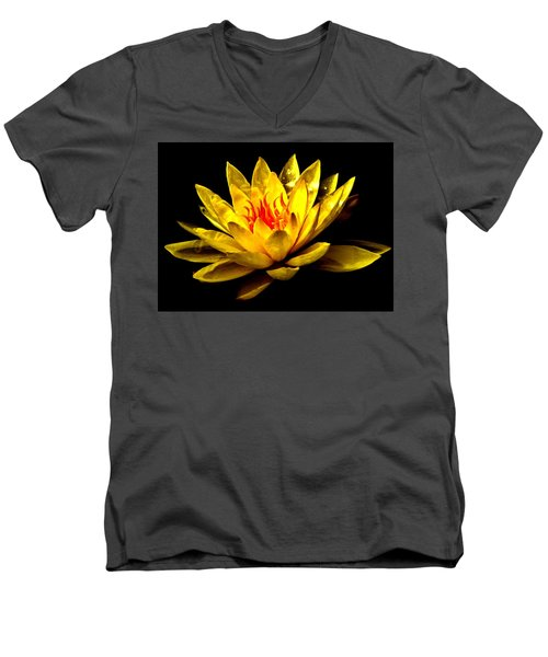 A Water Lily Men's V-Neck T-Shirt