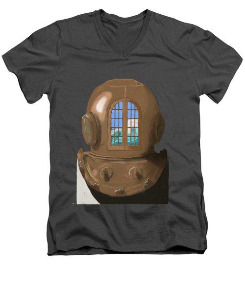A Wave Inside The Helmet Men's V-Neck T-Shirt