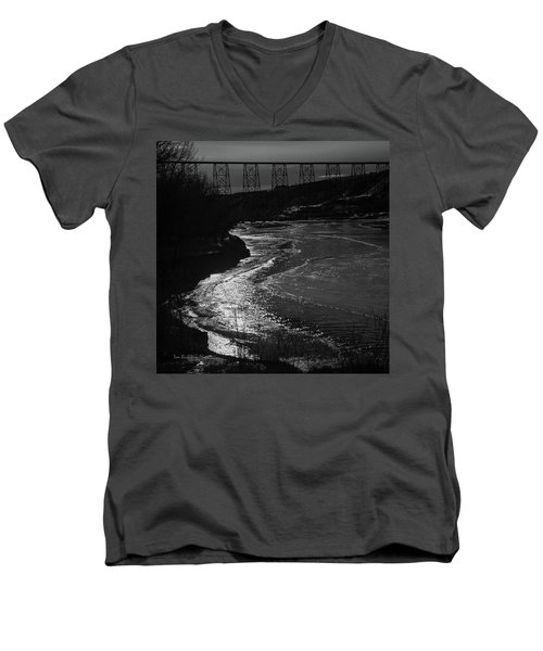 A Winter River Men's V-Neck T-Shirt