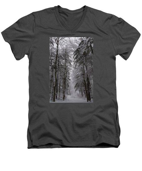 A Winters Path Men's V-Neck T-Shirt