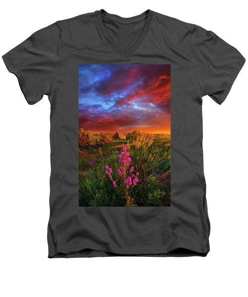 Men's V-Neck T-Shirt featuring the photograph A Wisconsin Story by Phil Koch