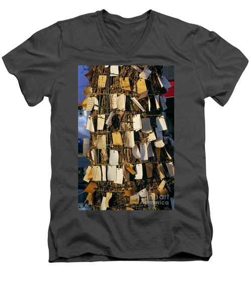 A Wishing Tree With Many Requests Men's V-Neck T-Shirt