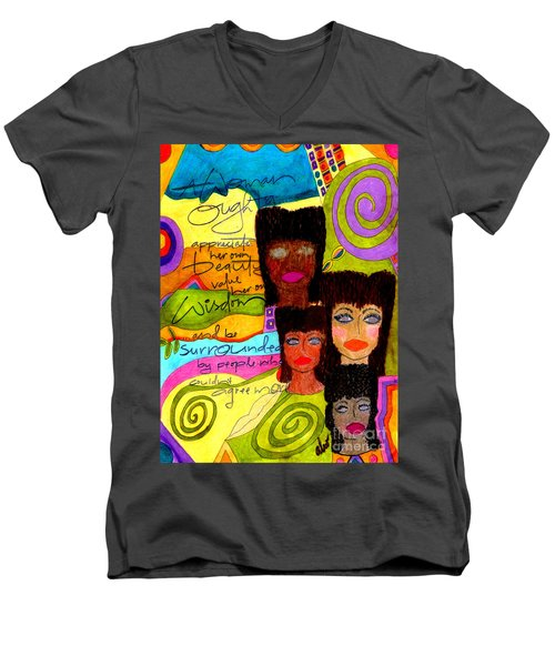 A Woman Oughta Know... Men's V-Neck T-Shirt