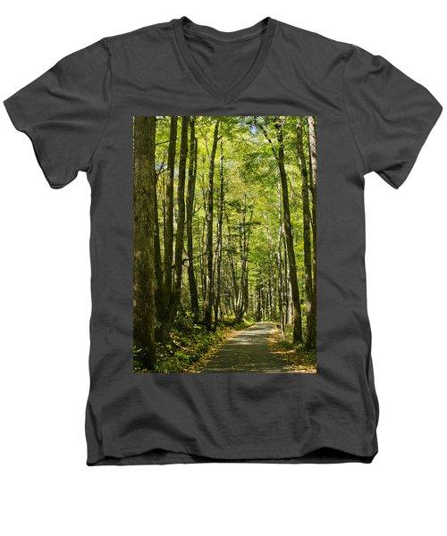 A Woodsy Trail Men's V-Neck T-Shirt