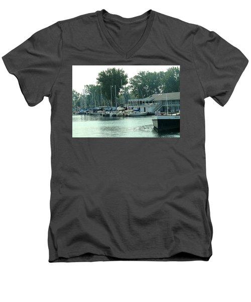 A Yacht Club Men's V-Neck T-Shirt by Ian  MacDonald
