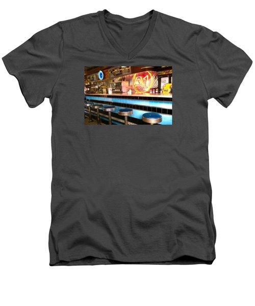 A1 Diner In Gardiner, Maine Men's V-Neck T-Shirt