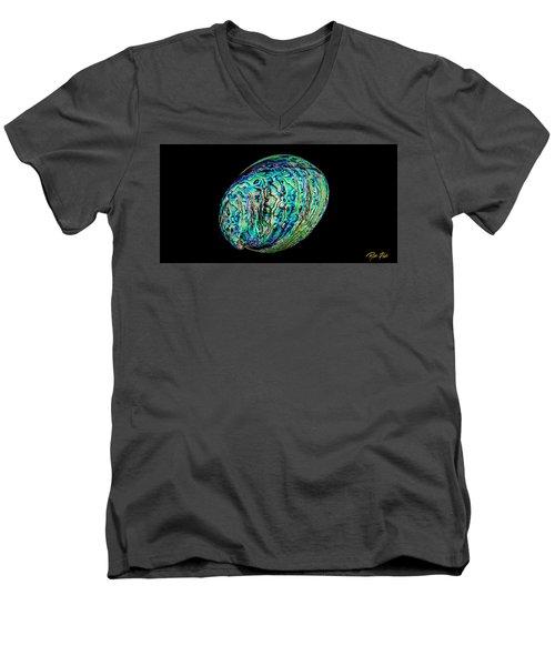 Abalone On Black Men's V-Neck T-Shirt