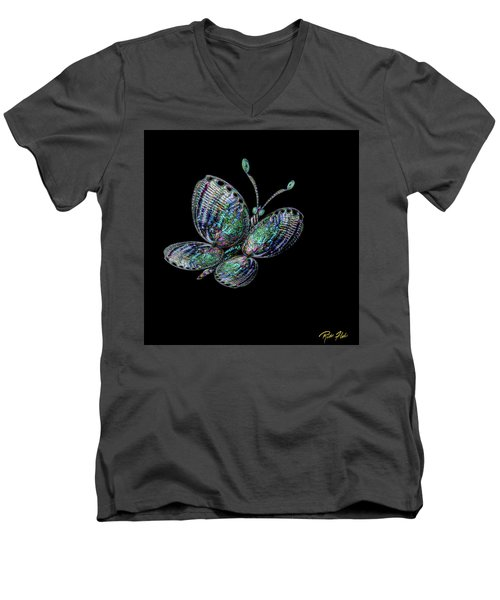 Abalonefly Men's V-Neck T-Shirt