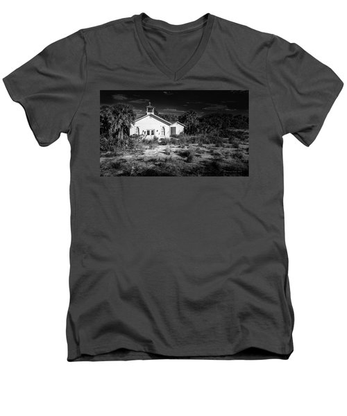 Men's V-Neck T-Shirt featuring the photograph Abandon by Marvin Spates