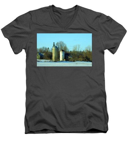 Abandoned Farm Men's V-Neck T-Shirt by Betty-Anne McDonald