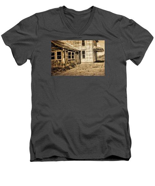 Abandoned House 2 Men's V-Neck T-Shirt by Bonnie Bruno